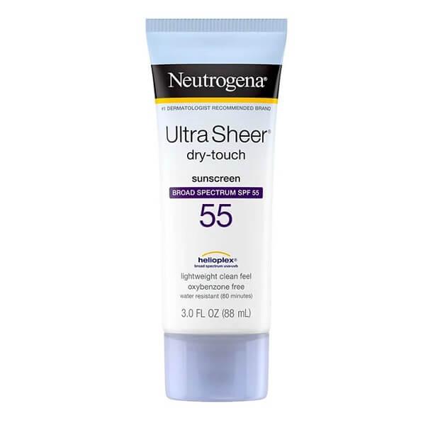 Kem chống nắng Neutrogena Ultra Sheer – dùng cho da dầu và da mụn