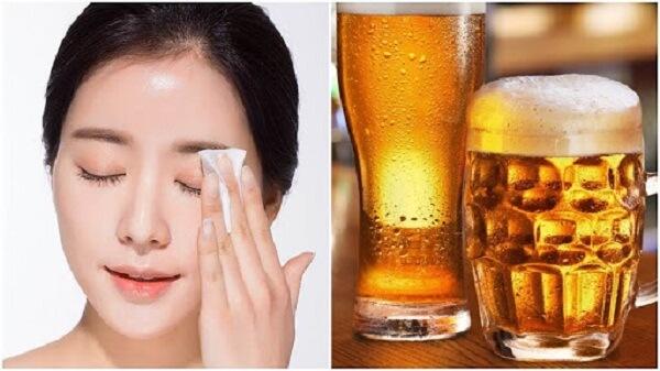 Bia cung cấp dưỡng chất, làm đều màu da
