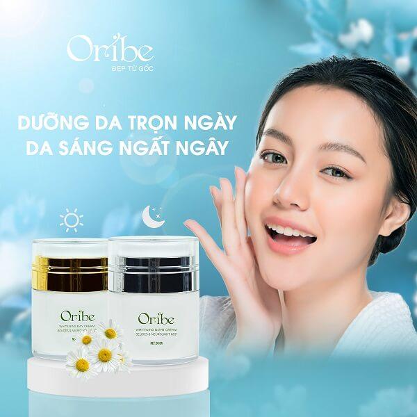 Bộ đôi kem dưỡng da ngày đêm Oribe giúp sáng da mờ vết thâm nám hiệu quả