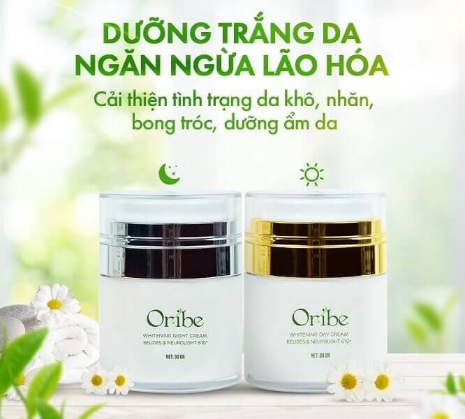 Bộ đôi sản phẩm kem dưỡng da Oribe giúp dưỡng trắng và ngăn ngừa lão hóa da hiệu quả