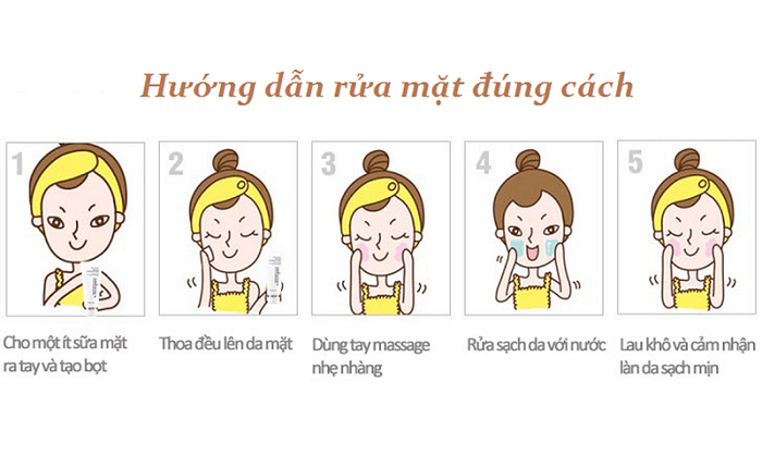 Các bước rửa mặt đúng cách hiệu quả