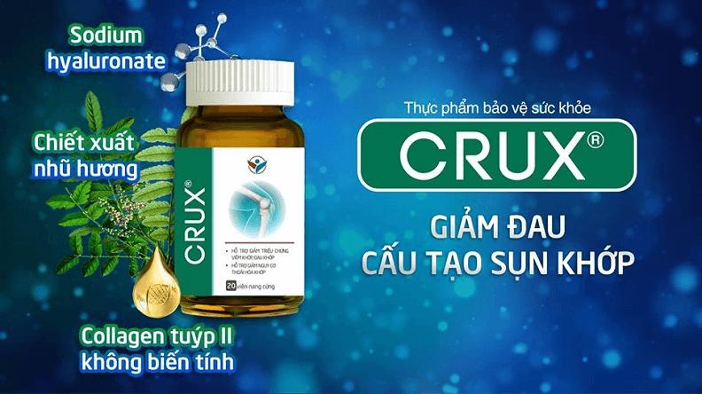 Các thành phần chính có trong viên uống Crux