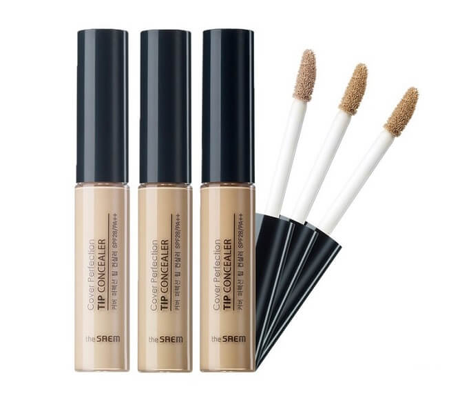 Sản phẩm che khuyết điểm The Saem Cover Perfection Tip Concealer