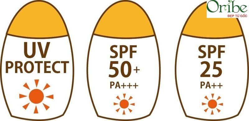 Các chỉ số SPF và PA có trong kem chống nắng