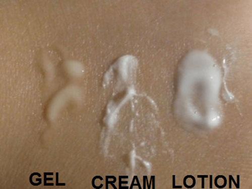 3 dạng kết cấu của kem trắng da