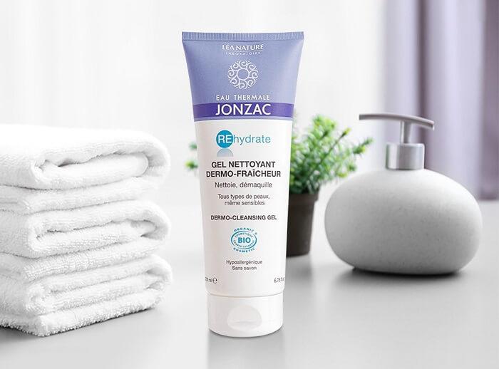 Gel rửa mặt cấp nước cho da khô nhạy cảm Eau Thermale Jonzac Dermo