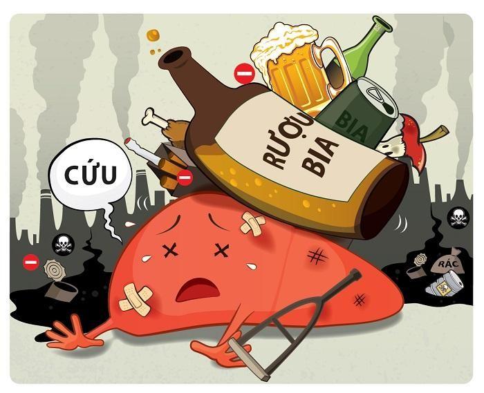 Nói không với bia rượu để làm giảm nguy cơ tăng men gan và các bệnh lý ở gan như viêm gan, xơ gan, ung thư gan…