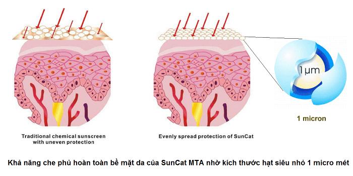 Hoạt chất chống nắng thế hệ mới Suncat MTA giúp bảo vệ da toàn diện