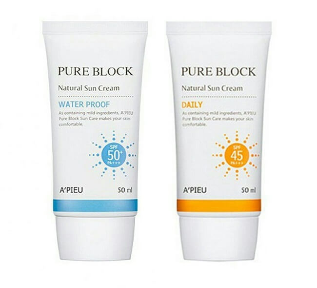 Kem A'Pieu Pure Block Natural Sun Cream SPF 45