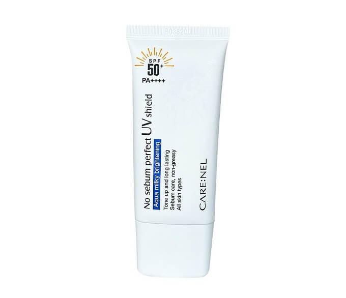 Kem Care Nel No Sebum SPF 50+ PA++++ có tác dụng chống nắng và dưỡng ẩm tốt