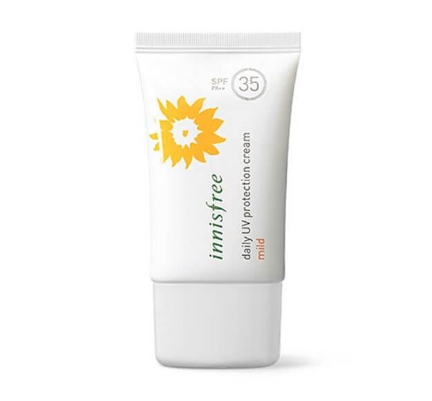 kem chống nắng không màu Innisfree Daily UV Protection Cream Mild SPF35/PA++
