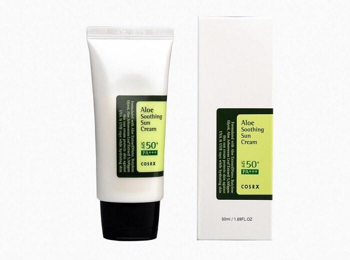 Kem chống nắng lai vật lý và hóa học Cosrx Aloe Soothing Sun Cream