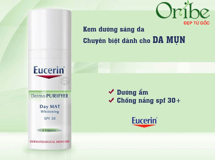 Kem dưỡng Eucerin DermoPurifyer Day Mat Whitening