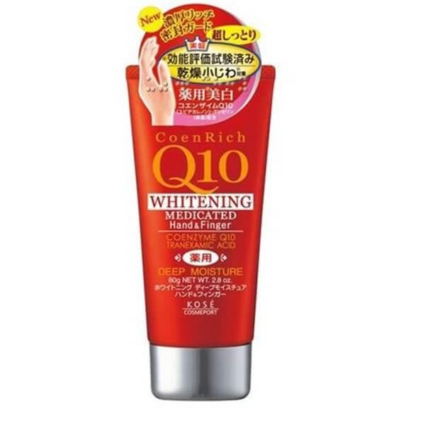 Kem dưỡng Kose Cosmeport Coenrich Q10 White Deep Moisture Body Milky Cream 160g