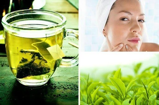 Lá trà xanh trị mụn rất hiệu quả