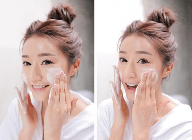 Rửa mặt sạch để da luôn được thông thoáng