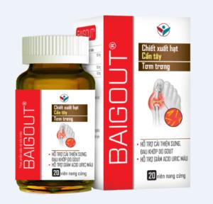 sản phẩm baigout giảm đau nhức hiệu quả cho người bị gout