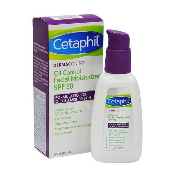 Thiết kế dạng pump tiện lợi giúp vệ sinh khi sử dụng kem chống nắng Cetaphil Derma Control Oil SPF30