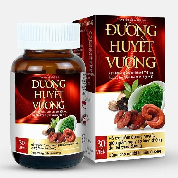 Sản phẩm Đường Huyết Vương với thành phần từ thiên nhiên hỗ trợ giảm đường huyết hiệu quả