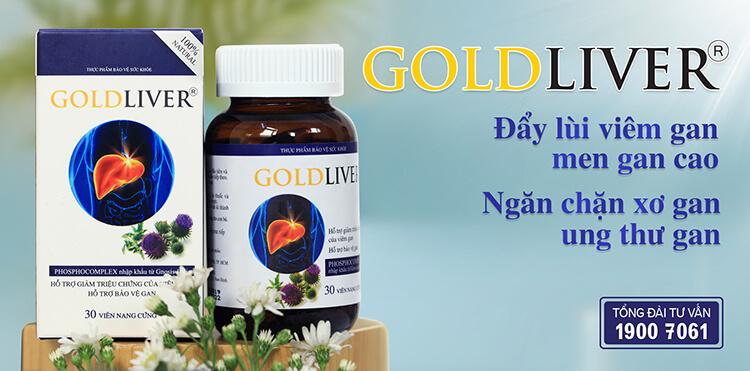 Sản phẩm Goldliver giúp đẩy lùi viêm gan, xơ gan và giúp hạ men gan hiệu quả