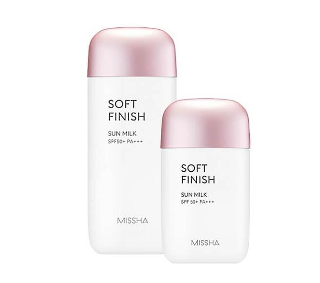 Kem chống nắng cho da khô Missha All-around Safe Block Soft Finish Sun Milk SPF50+/PA+++