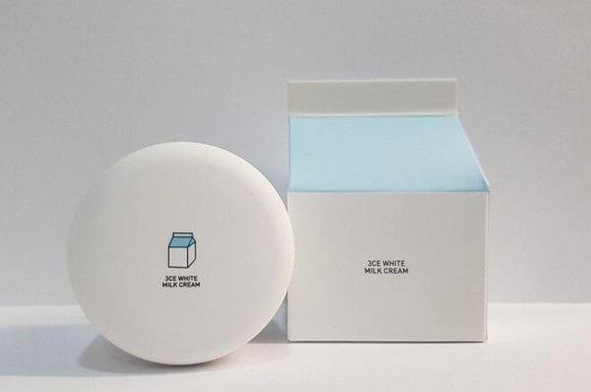 Sản phẩm kem dưỡng trắng da mặt 3CE White Milk Cream