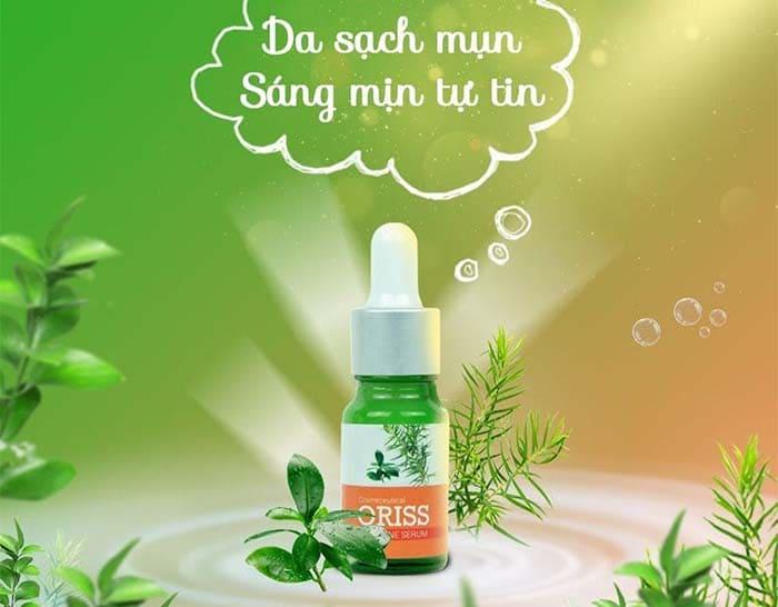 Sản phẩm serum trị mụn Oriss với các thành phần được chiết xuất từ thiên nhiên