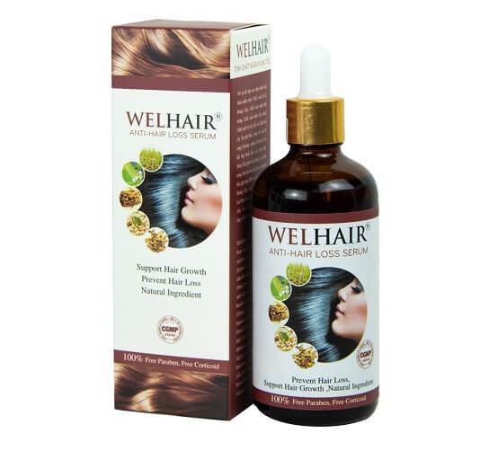 Hình ảnh chai serum kích thích mọc tóc Welhair mà mình giới thiệu ở trên đây ạ!