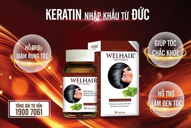 Sản phẩm Welhair giúp ngăn ngừa tình trạng rụng tóc và hỗ trợ mọc tóc hiệu quả