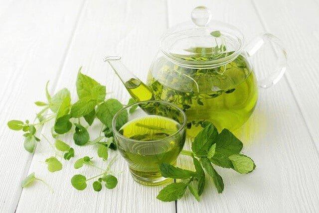 Sử dụng nước trà xanh mỗi ngày để giảm mụn