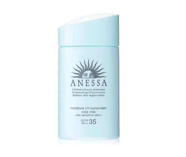 Sữa chống nắng cho da mụn Anessa Essence UV Sunscreen Mild Milk