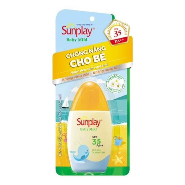 Sữa chống nắng cho bé và da nhạy cảm Sunplay Baby Mild SPF35 PA++