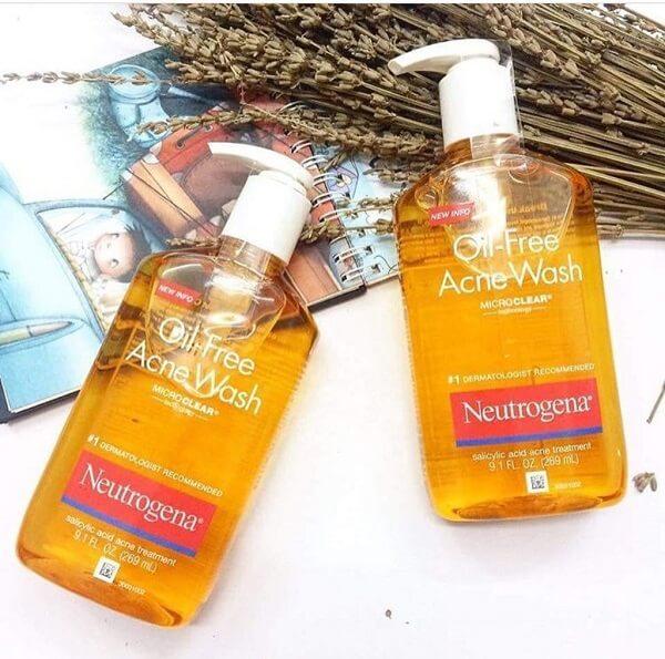 Sữa rửa mặt Neutrogena Oil-Free Acne Wash giúp trị mụn tốt