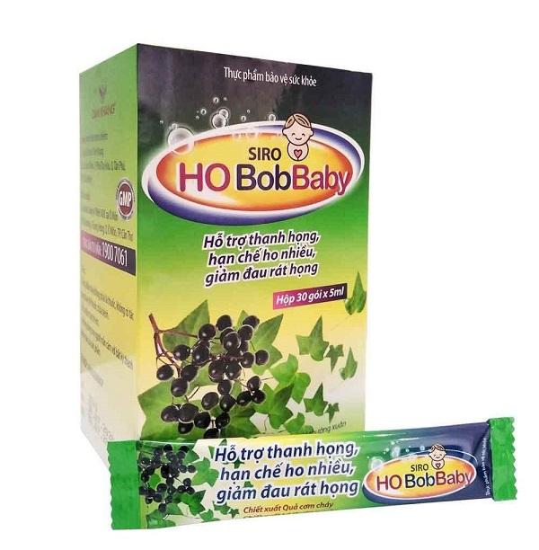 Thiết kế và bao bì của sản phẩm Siro Ho BobBaby