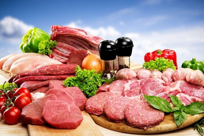 Thịt đỏ là thực phẩm chứa nhiều purine