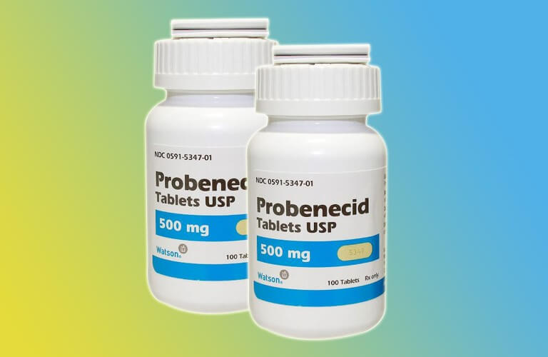 Probenecid ngăn chặn urat lắng đọng hình thành tophi