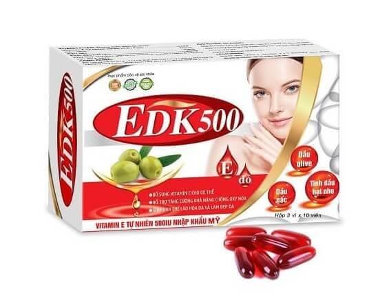 Viên uống bổ sung vitamin E EDK500