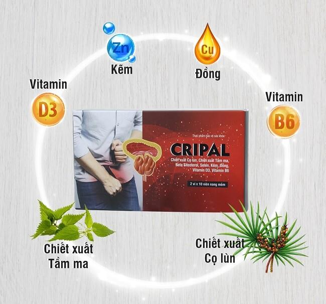 Viên uống Cripal với những thành phần từ thiên nhiên