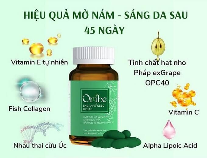Viên uống Oribe hỗ trợ trị nám sau sinh an toàn và hiệu quả